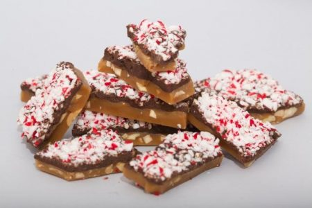 Peppermint Dark Chocolate Soft Toffee