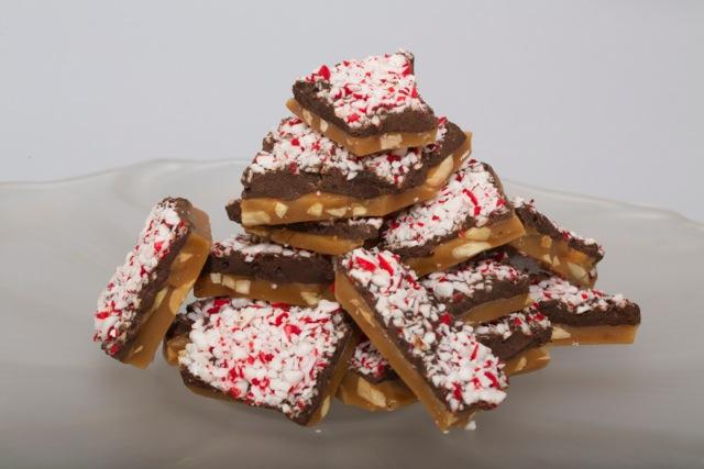 Peppermint Dark Chocolate Handmade Toffee