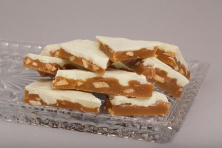 White Chocolate Toffee makes great Christmas Gifts